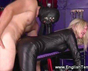 Femdom commands subject to suck and fuck her pussy