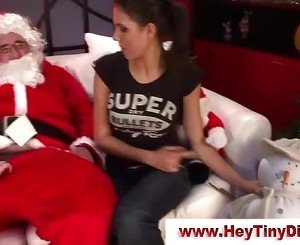 Tiny dick santa gets sucked