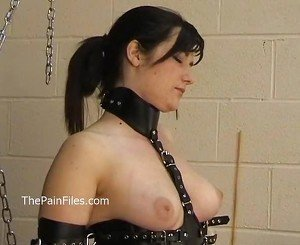 Kinky amateur bondage and whipping of Lena in electro bdsm and hardcore domination of submissive fetishist