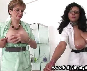 Mature nurse Lady Sonia and friend russian