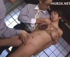 Jap milf Bdsm threesome