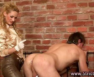 Blonde domina fists guy