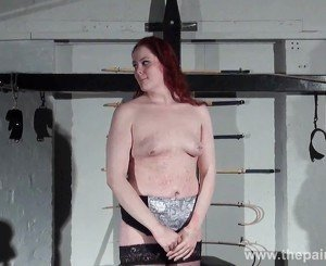 Lesbian domination of Louise and kinky spanking of enslaved amateur lesbo in hardcore dungeon bdsm