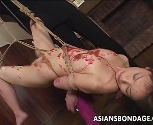 Tempting Japanese gal groans while being tormented