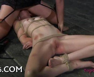 Sister Dee can be so cruel. Marina is a hot willing bondage slut and so SD