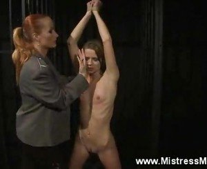 Slave accosted by her lezdom mistress