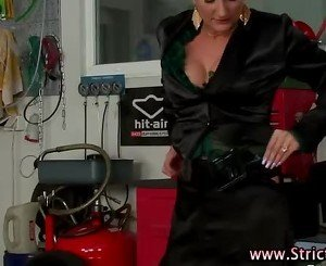 Loser fucks stockings domina