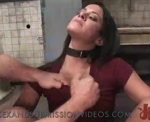 Beautiful big boobs brunette bondage fucked