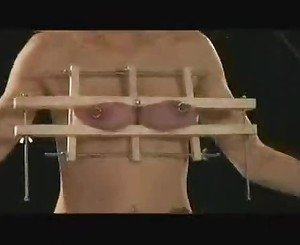 Slave gets her sweet tits squashed
