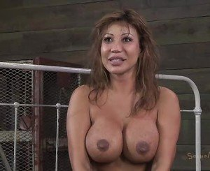 Ava Devine bound and made into a spit roast