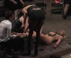 Awesome Lorelei Lee gets tied up and teased with pain