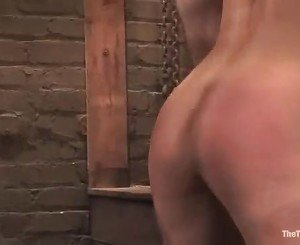 Horny busty slut Satine Phoenix gets on her knees to blow her...