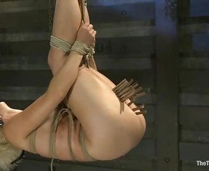 Randy Dylan Ryan is strung up & her pussy lips pegged