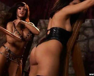 Alluring Lisa Ann torments a horny Charley Chase
