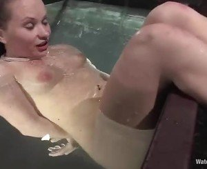 Blistering Katja Kassin gets dunked in a water tank