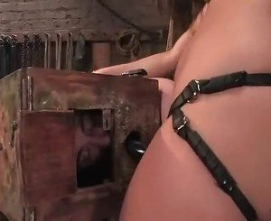 Backwards fuck with man getting anal plowed by Mistress Harmo...