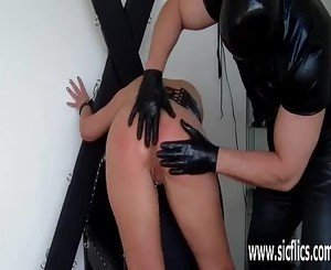 Busty milf fist fucked by her master till she squirts