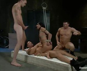 Lou Charmelle get a hard group nasty sex