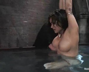 Dripping wet Nadia Styles gets dunked in cold water