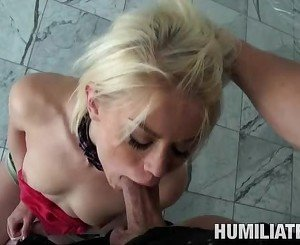 Ash Hollywood hot babe worship at hard dick