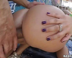 Franceska Jaimes crams a cock in asshole