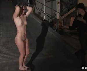 Sexy Slave Savannah West hits her knees and bows down to her...
