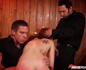Kinky Jade Nile in collar getting whipped
