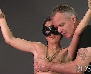 BDSM XXX Bondage Master brings his hot sub babe